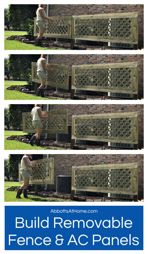 How to DIY Removable AC Screen or Removable Fence Panel. How to Hide your Air Conditioners, Under your Deck, an old boat or a big RV behind removable panels.