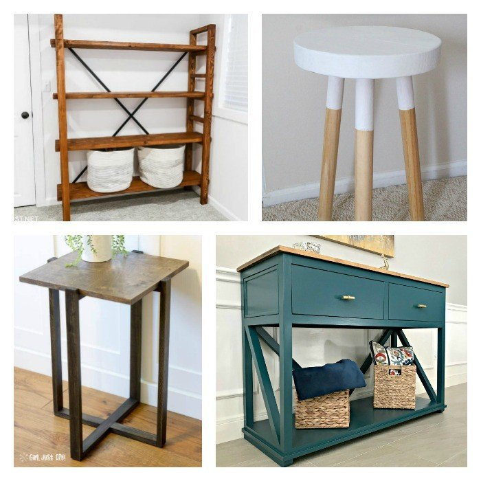 12 Beautiful and Budget-Friendly DIY Furniture Plans you should see! Most of these are woodworking plans for beginners. Yay! #AbbottsAtHome #Woodworking #WoodworkingPlans #FurniturePlans #DIYFurniture