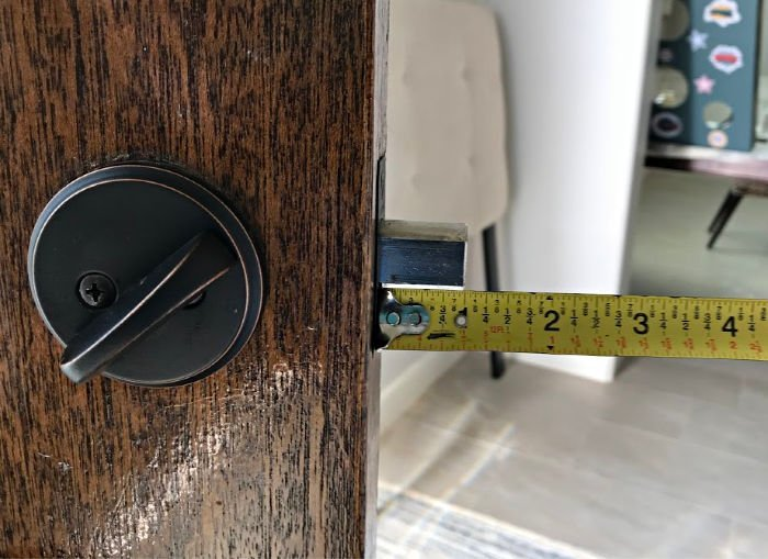 I've got 3 Cheap and Easy Home Security Updates for your Doors you can do in an afternoon. With 3 small DIY Exterior Door Updates you can make your home safer.