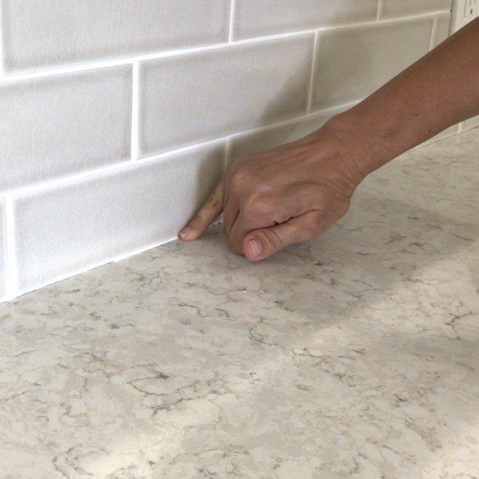 How To Caulk A Kitchen Counter Quick