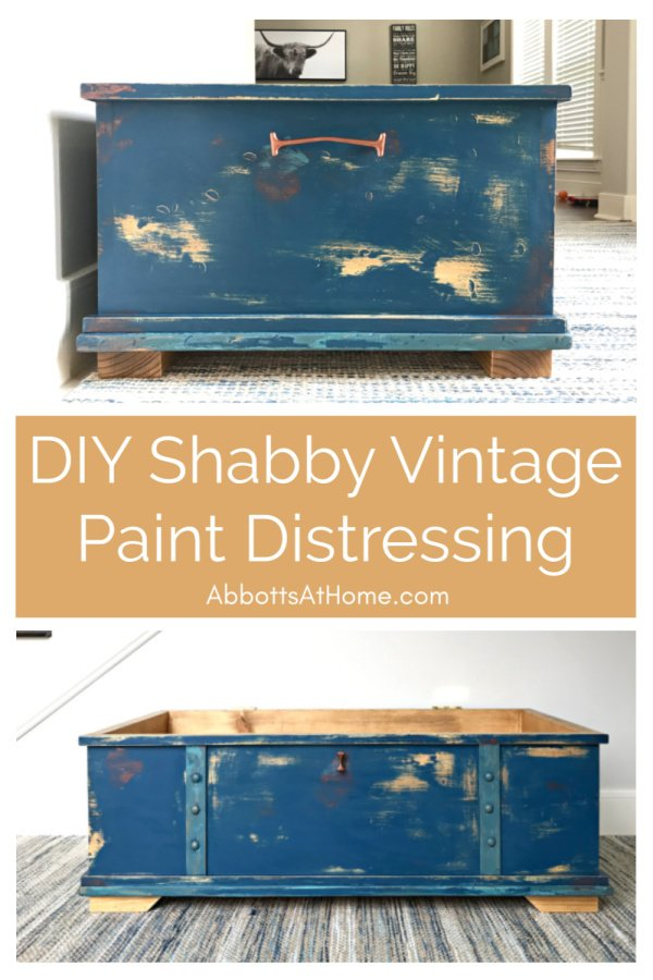 I'm so in love with this DIY Shabby Distressed Paint Finish. Here are the easy DIY steps and how-to video.You can get that perfect Vintage, Rustic Paint Look with 7 easy DIY Steps. #AbbottsAtHome #FurnitureMakeover #PaintingFurniture #Vintage #DIYIdeas #PaintTips