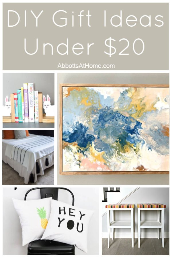 I love this list of $20 DIY Gift Ideas. AND so will your family and friends that get these as gifts. #AbbottsAtHome #GiftIdeas #DIYIdeas #Gifts #DIY #Crafts