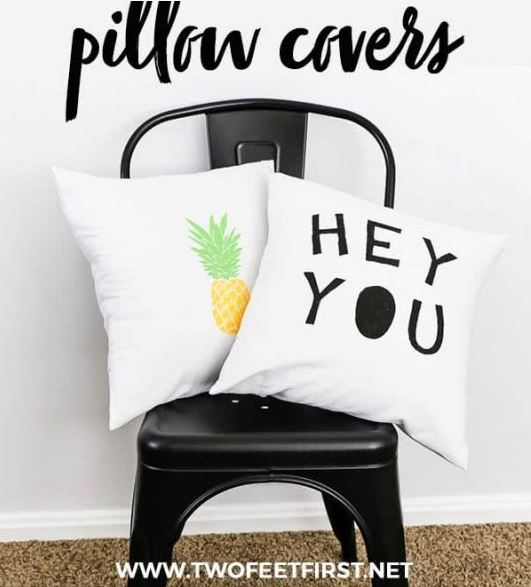 I love this list of $20 DIY Gift Ideas. AND so will your family and friends that get these as gifts. - DIY Pillow Case Covers - #AbbottsAtHome #GiftIdeas #DIYIdeas #Gifts