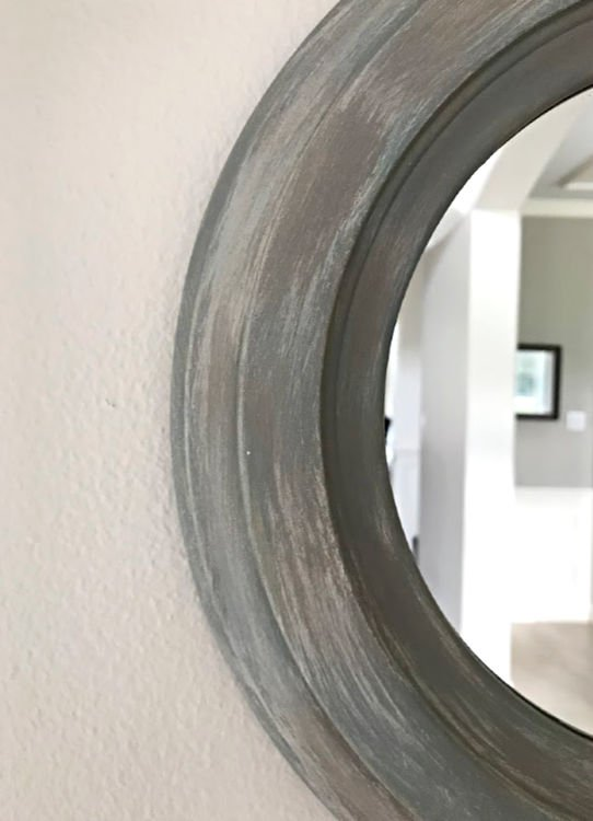 Give your decor or furniture this pretty DIY Weathered Paint Effect with these easy steps and how-to video. This is a fun chalk paint project, guys! #AbbottsAtHome #PaintMakeover #ChalkPaint #FauxFinish #DIYHomeDecor