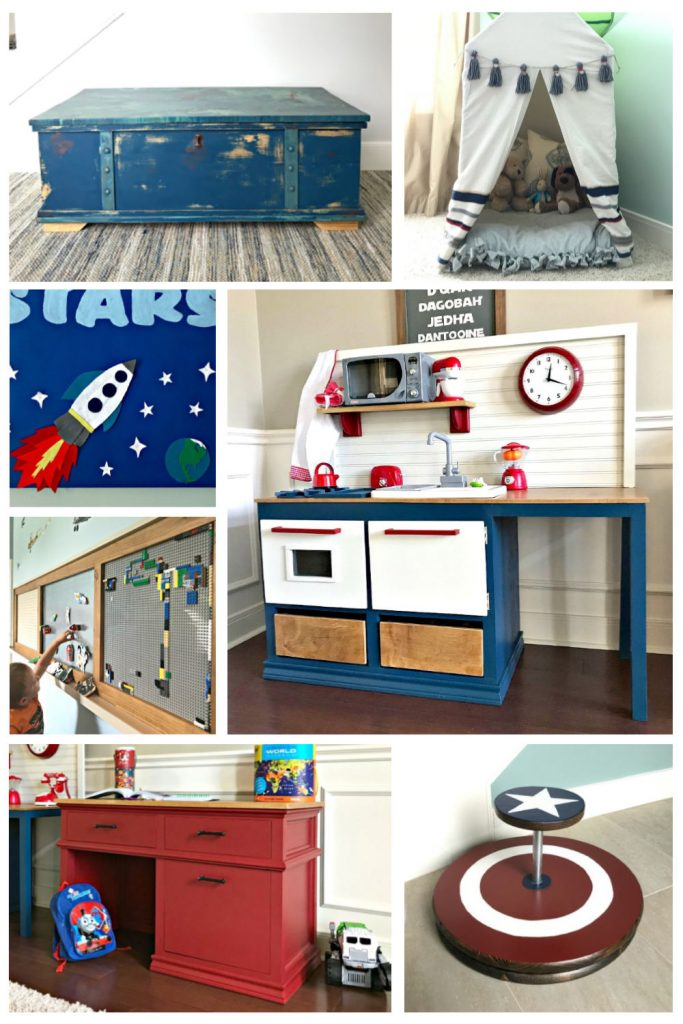 7 DIY Christmas Gift Ideas for kids. Click for the step by step tutorials. Includes DIY Kids furniture, Kids Toys, and DIY Kids Play Areas. #AbbottsAtHome #ChristmasGifts #GiftIdeas #DIYFurniture #PlayRoom #Woodworking