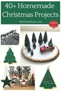 40+ fun DIY Christmas Projects, Crafts, Ornaments, Wreaths, Builds and Gift Ideas from my site. Plus, some of my favorite Christmas projects from talented blogger friends! #Christmas #ChristmasIdeas #ChristmasDecor #ChristmasGifts #ChristmasInspo #Christmas