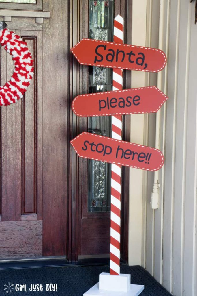 DIY Christmas Porch Sign