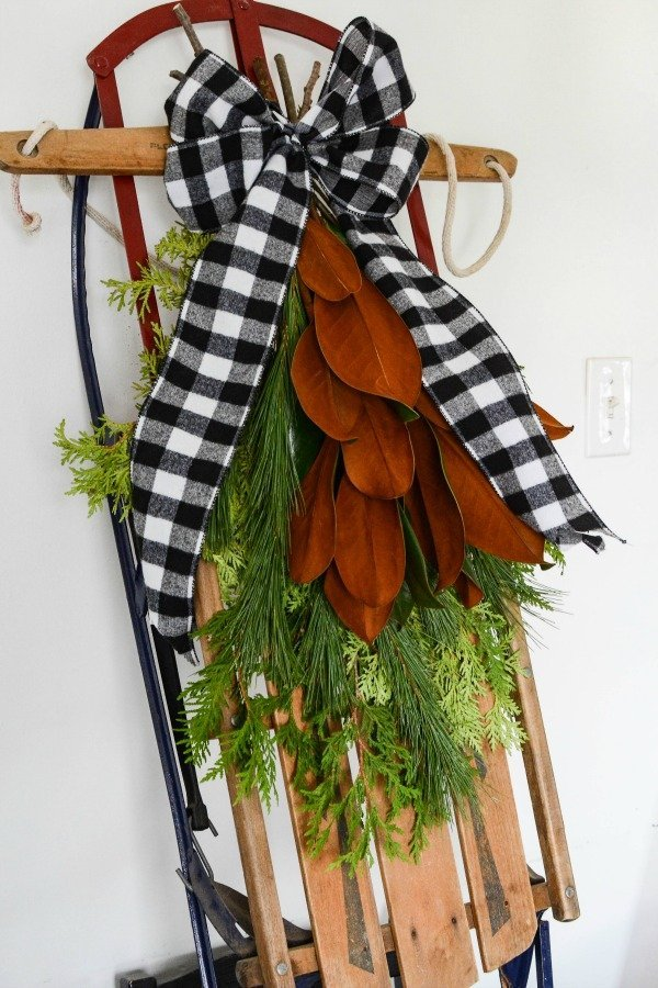 DIY Christmas Sled Porch Decor