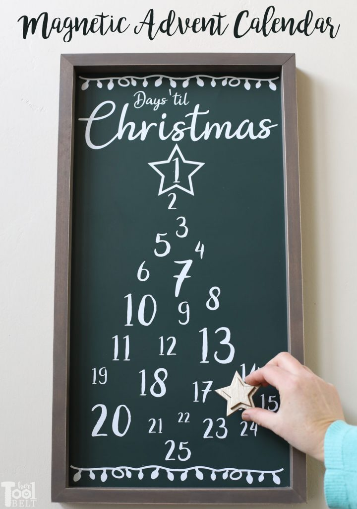 DIY Magnetic Countdown Calendar