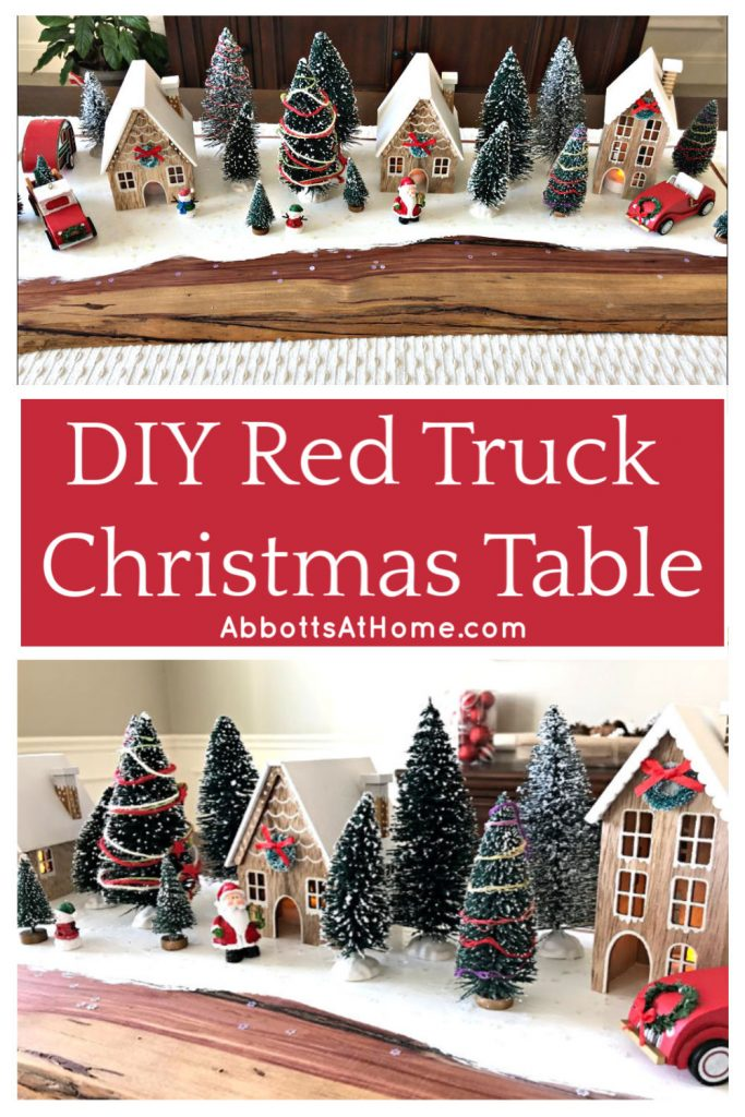 Easy Diy Red Truck Christmas Table Centerpiece Abbotts At Home