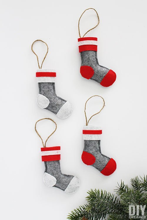 DIY Wool Felt Sock Ornaments
