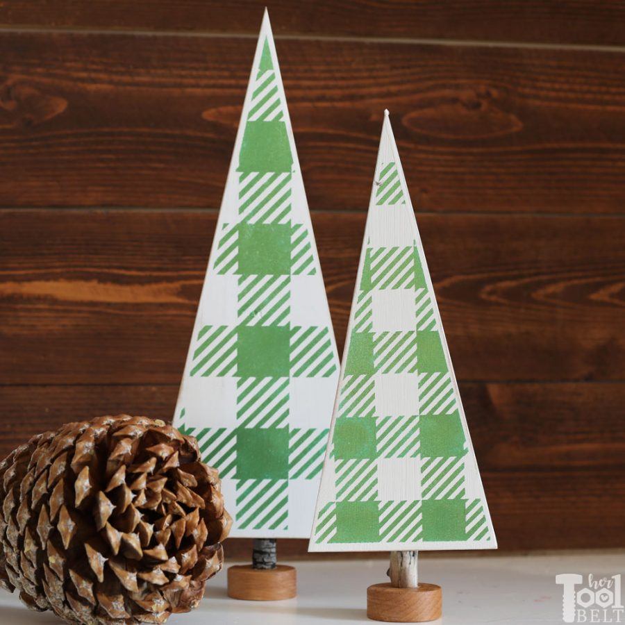 Vinyl Gingham Christmas Tree