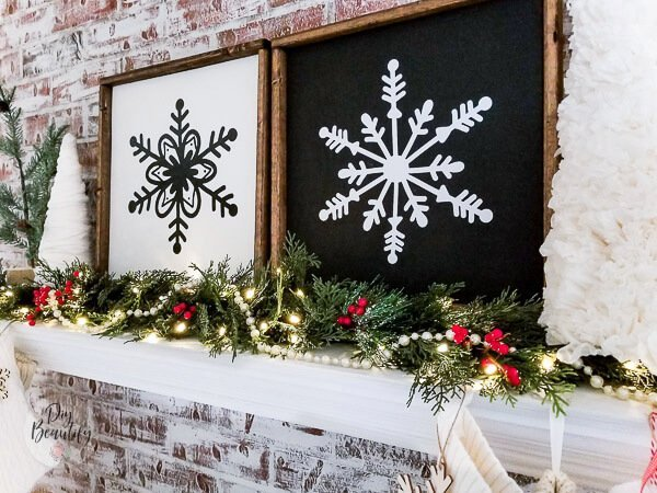 Large DIY Wood Snowflake Sign