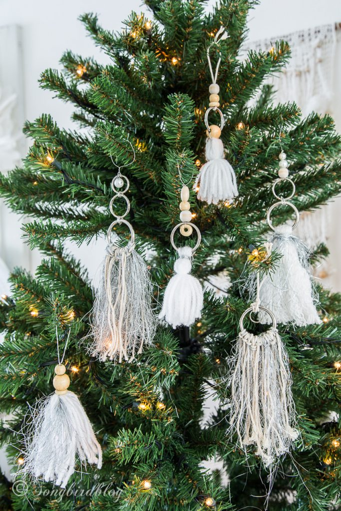Tassel Boho Christmas Ornaments DIY