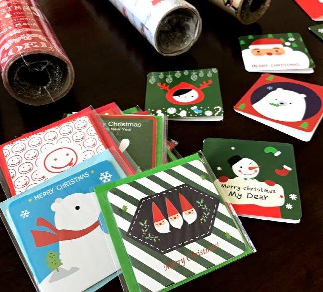 how to use Mini Christmas Cards to make homemade Christmas ornaments