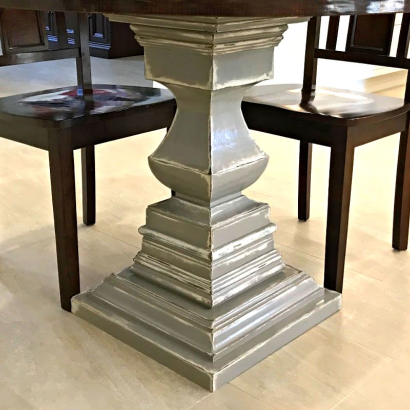 You can do this beautiful DIY White and Grey Distressed Furniture look, here's how! Easy DIY with written steps, video tutorial, and shopping list. #ChalkPaint #FurniturePainting #FurnitureMakeover #DIYFurniture