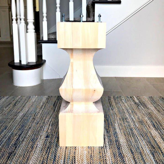 Diy Round Kitchen Table Wooden Pedestal Base Abbotts At Home