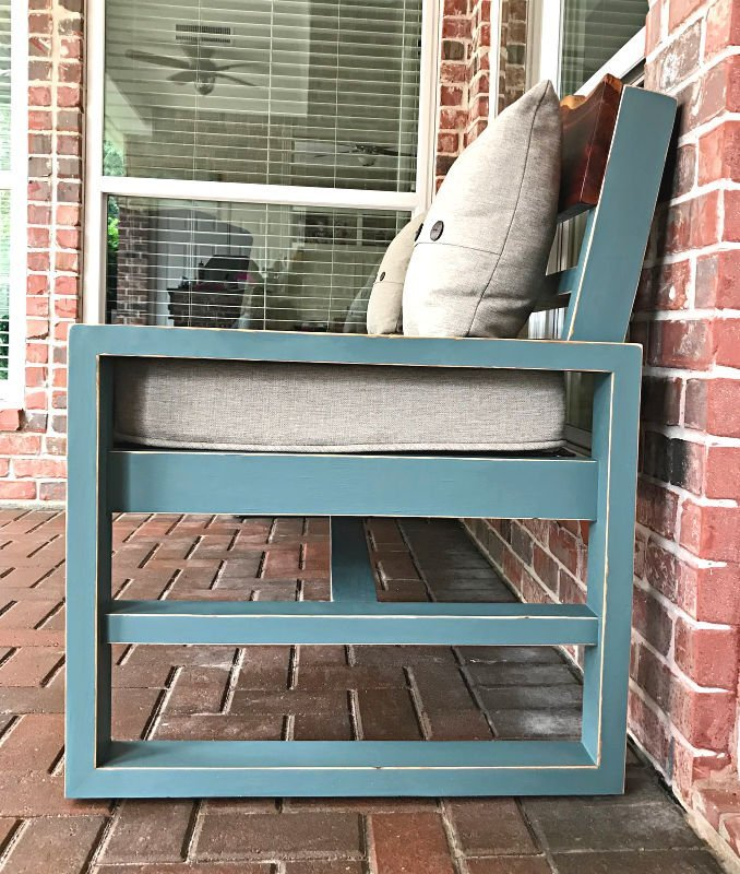 How to steps for this before and after furniture makeover using chalk paint and vaseline for distressing. Steps to get this look on unfinished wood and already stained wood furniture or cabinets.