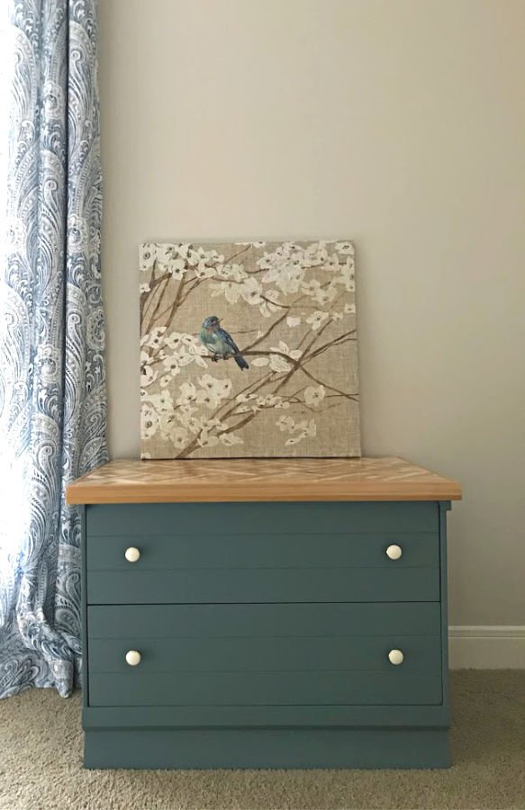 Magnolia Homes by Kilz in color Demo Day on a DIY Night Stand Makeover. Easy DIY steps and before and after pictures.