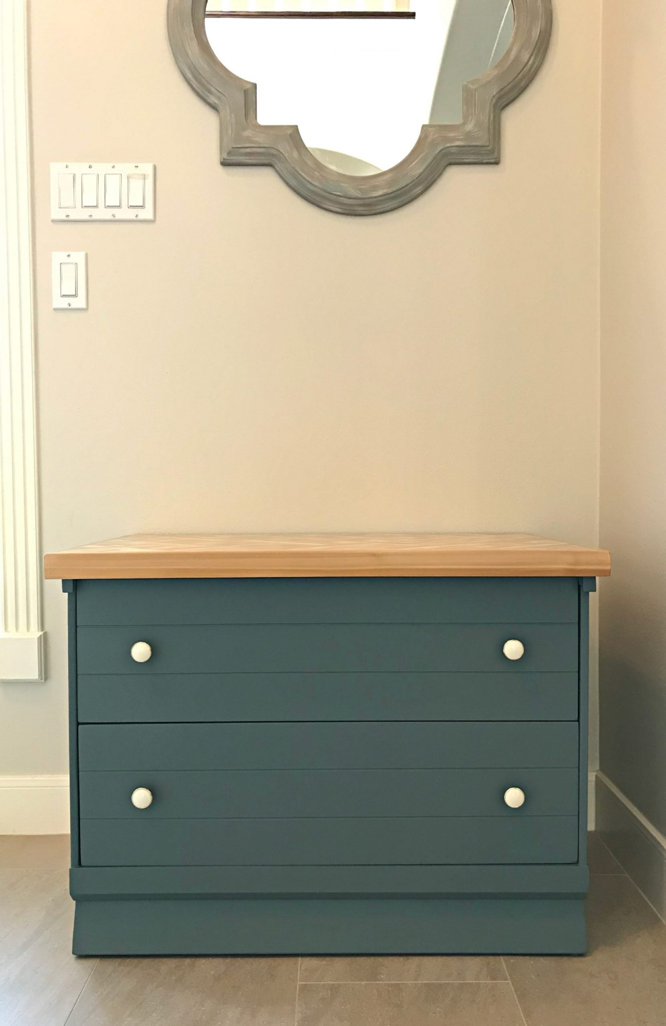 DIY Night Stand Makeover painting steps for furniture makeover with before and after pictures from the 5 different looks it has had over the years.