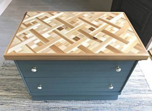 Here's how I built a beautiful DIY Wood Mosaic Table Top with low cost Cedar from my local big box store. Easy to follow how to video and build tips. DIY Geometric Wood Art idea.