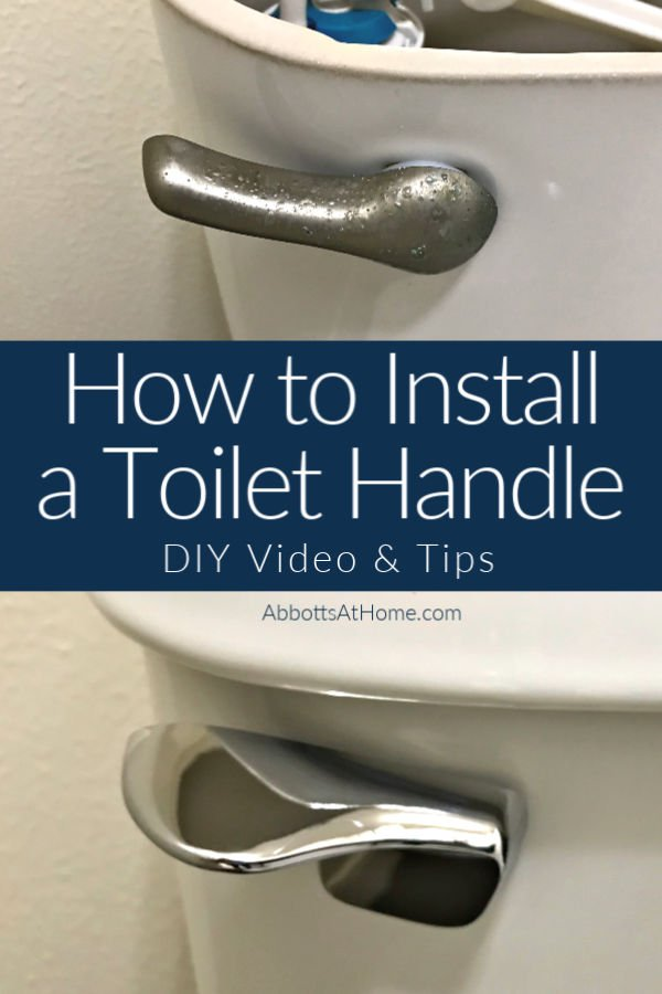 Here's how you can install a toilet handle lever in about 10 minutes. This easy DIY project takes about 10 minutes, guys. Walk through video and tips to help you fix and replace your broken toilet flush handle.