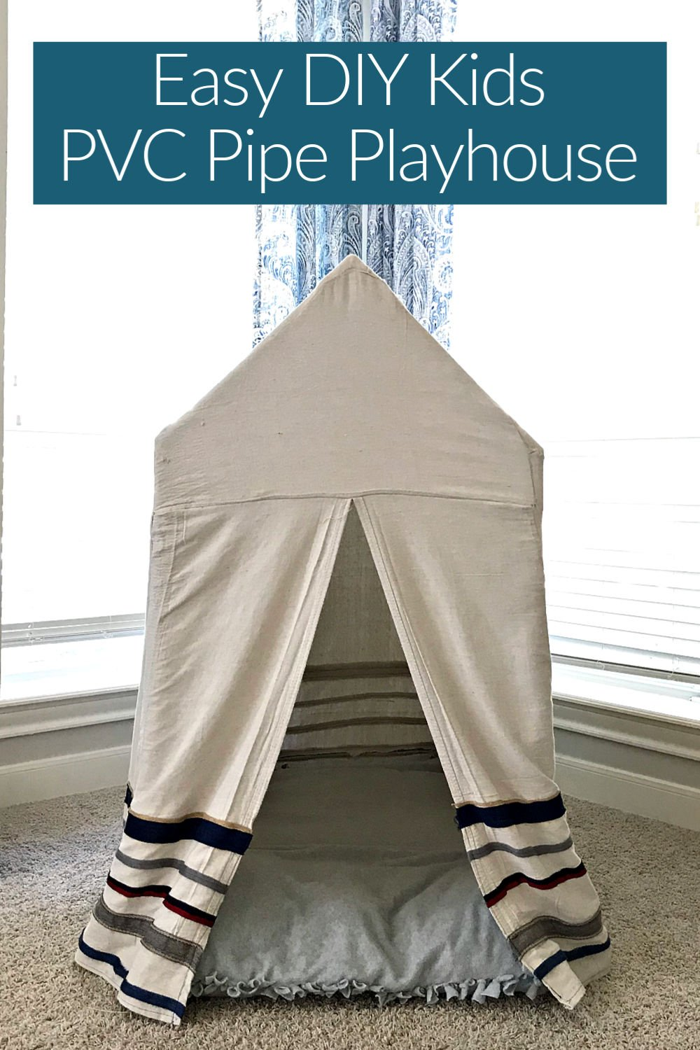 Here are the quick and easy steps to build a fun Kids PVC Pipe Tent. No power tools required. With easy to follow steps and build diagram, you can build this in a couple hours.