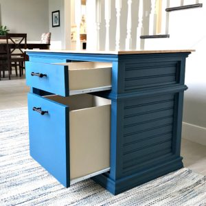 Step by step build plans for a wooden DIY Kids Desk with storage drawers. Build this beautiful little arts and craft or school desk for your kids. Printable build plans and build overview video included on tutorial.