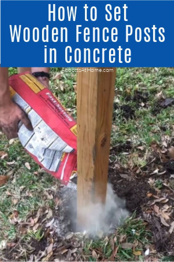 How to Set Wooden Fence posts in concrete. DIY Wooden Fence with 4x4 posts.