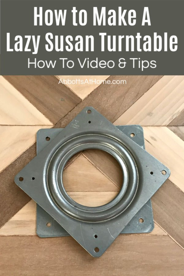 Lazy Susan Hardware can look confusing, so I made this quick and easy to follow DIY video for how to make a Lazy Susan Turntable to explain what to do. DIY Lazy Susan Turntable. DIY Lazy Susan Organizer