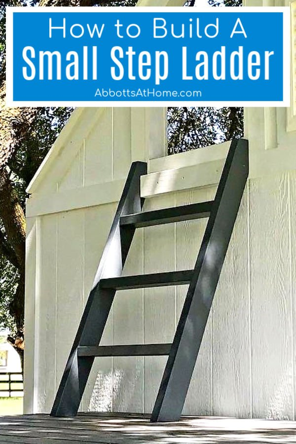 Step by step tutorial and how to video for how to build a small step ladder from 2x4's.