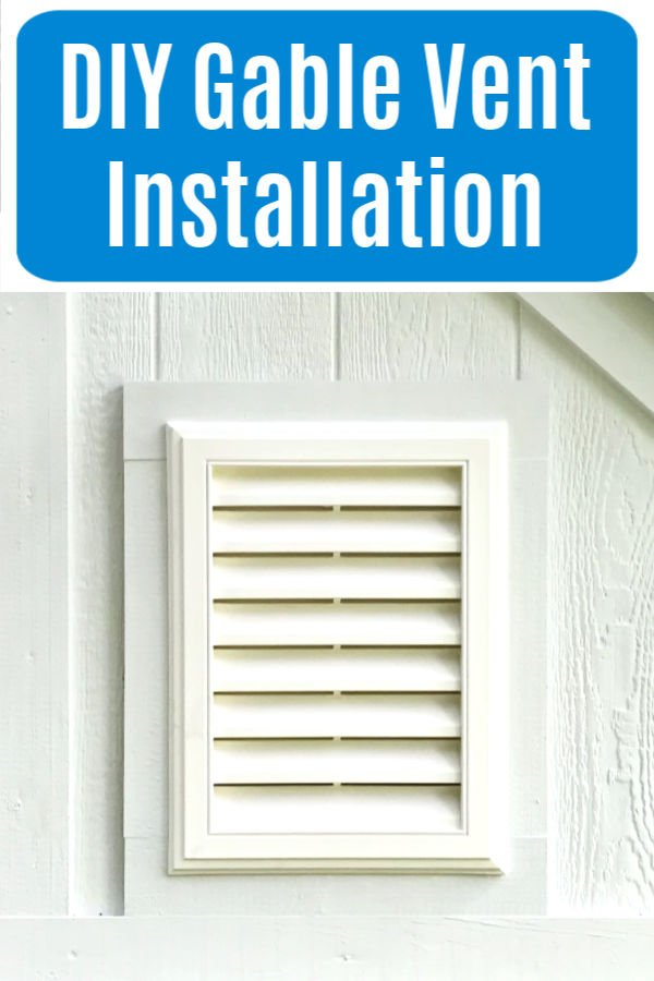 Easy to follow written steps and how to video for a DIY Gable Vent Installation in a shed or barn wall or attic. How to install a vinyl gable vent.