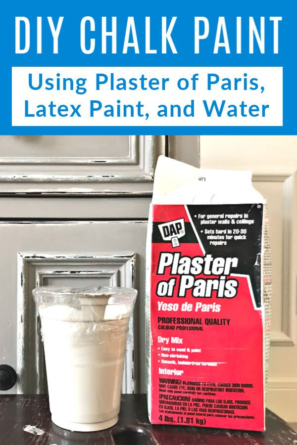 Here's the easy 3 ingredient DIY Chalk Paint Recipe I use to mix Latex Paint, water, and Plaster of Paris into beautiful furniture and decor paint. How to make homemade chalk paint, which sheen of latex paint works, what to do if chalk paint is too thick or thin, and why I love chalk paint on furniture.