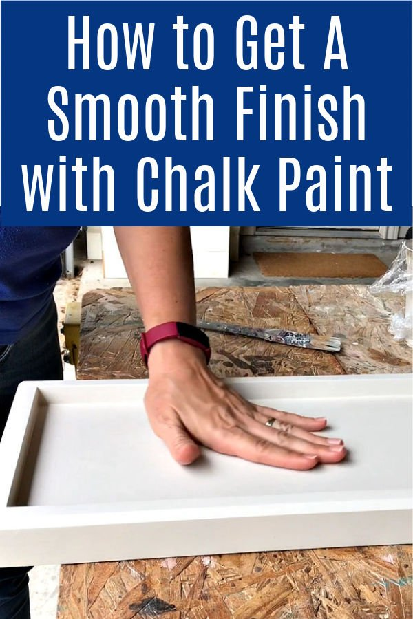 Follow these easy steps to get a beautiful, smooth finish with chalk paint. This is how to fix rough feeling and blotchy looking chalk paint! How to get rid of brushstrokes and stop streaks on chalk paint.