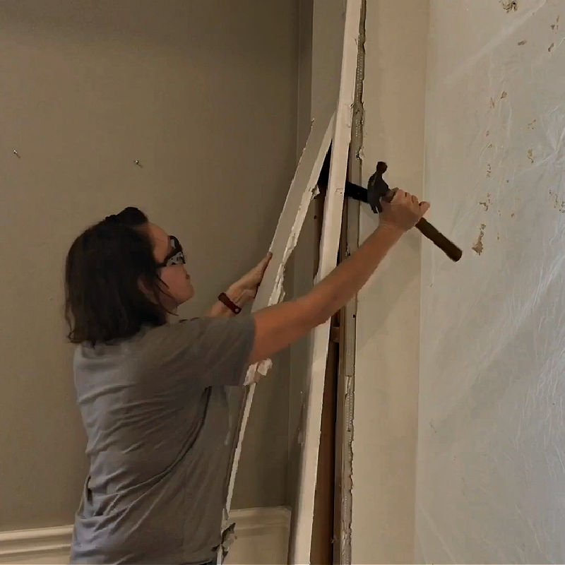 Here's how to remove an arched doorway in a wall with tips for demo, framing, and how to square off rounded arches.