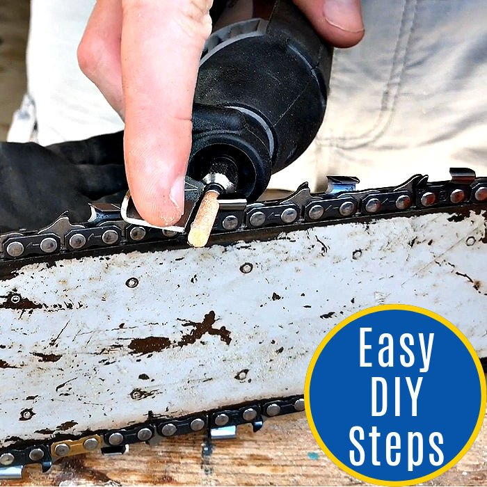 Sharpening your chainsaw is a lot cheaper than constantly buying new. Here are the easy steps for how to sharpen a chainsaw with a Dremel.